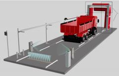Мойка для автобусов и грузового транспорта портальная щеточная