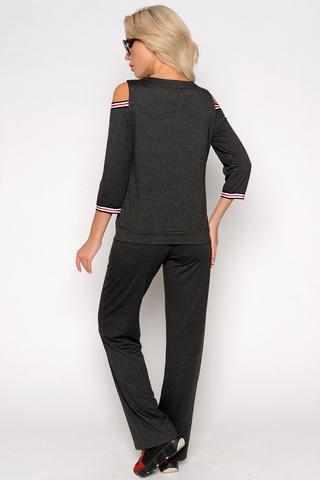 """<p>Хит! Хит! Хит!</p> <p>Прогулочный костюм на новый сезон """"весна - лето 2021"""".</p> <p>Брюки прямого кроя на резинке. <span>Длины:(44-52р верх изделия 59 см, брюки 106см).</span></p>"""