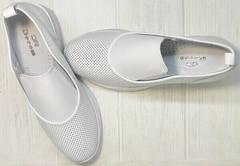 Спортивные кожаные туфли слипоны с перфорацией sport casual летние женские Derem 1761-10 All White.