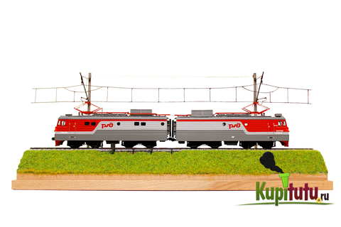 Диорама Туту BOX с локомотивом ЧС7, 1:87