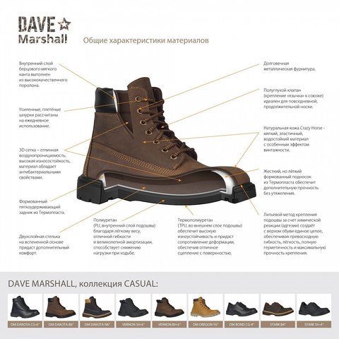 Ботинки кожаные DAVE MARSHALL VERNON-SH-6