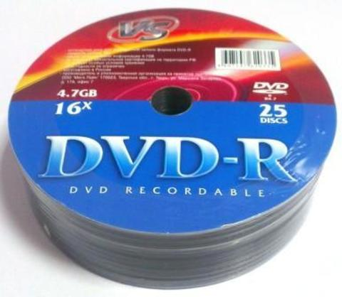 Диск VS DVD-R 4,7GB 16x Shrink/25