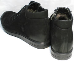 Мужские полуботинки на шнурках зимние Luciano Bellini 71783 Black.