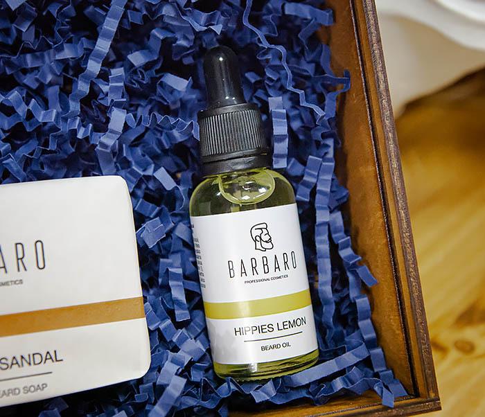 Мужской набор Barbaro «Hippies Lemon»: масло и мыло для лица и бороды фото 03