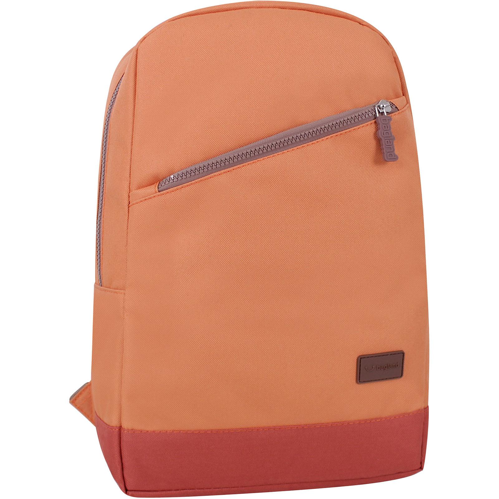 Городские рюкзаки Рюкзак Bagland Amber 15 л. рыжий/кирпич (0010466) IMG_9757_рыжий._кирпич_.JPG