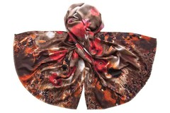 Палантин коричнево-красный 1455