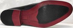 Мужские кожаные туфли под классический костюм Ikoc 2249-1 Black Leather.