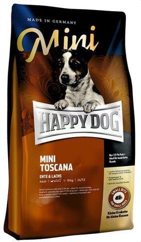купить Happy Dog Supreme Mini Adult Toscana сухой корм для взрослых собак до 10 кг, с пониженным уровнем активности, кастрированных и стерилизованных 4 кг