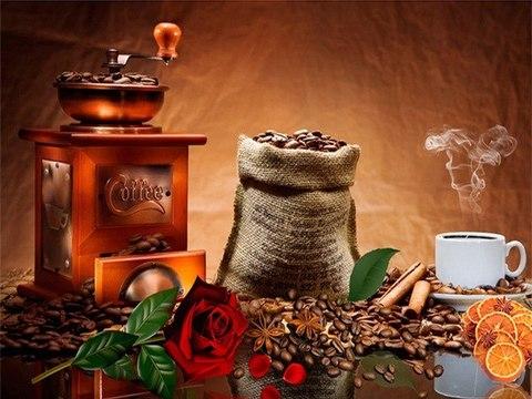 Алмазная Мозаика 5D 40x50 Набор кофе