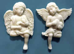 Силиконовый молд  Два ангела