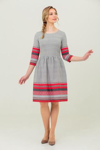платье Льняное в русском стиле Шамбала