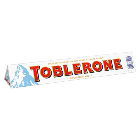Шоколад белый Toblerone White с медово-миндальной нугой 100 гр