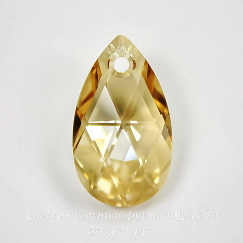 6106 Подвеска Сваровски Капля Crystal Golden Shadow (28 мм)