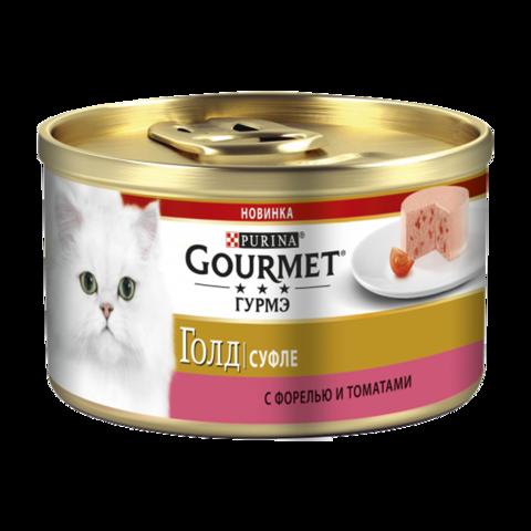 Gourmet Gold Консервы для кошек Суфле с Форелью и томатами
