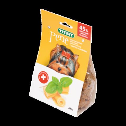 Titbit Pene Лакомство для собак мелких пород печенье с сыром и зеленью