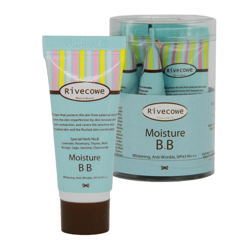 [RIVECOWE Beyond Beauty] Тональный крем Moisture BB SPF 43 РА+++, 5 шт по 5 мл