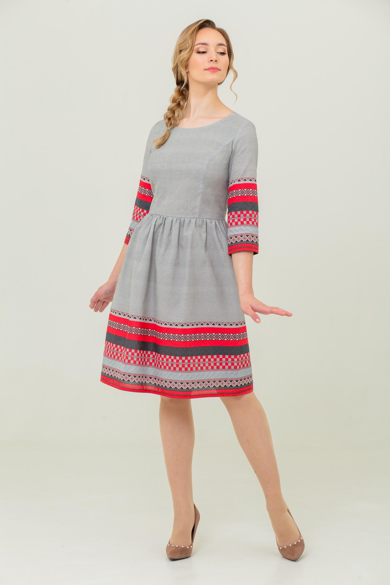 платье из льна и хлопка Шамбала купить