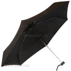 Чёрный складной мини зонт в футляре Lamberti