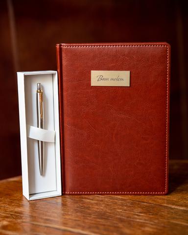 Набор с гравировкой: Ежедневник  и Шариковая ручка Parker Jotter Essential, St. Steel GT123