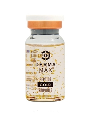 Высокообогащённая сыворотка с золотыми пептидами DERMAMAX MULTI PEPTIDE GOLD (омалаживающая сыворотка с золотыми пептидами) 1 ампула  8 мл