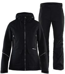 Тёплый зимний мембранный Костюм CRAFT Utility Alpine Eira Black женский