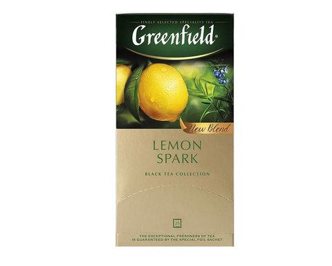 купить Чай черный в пакетиках из фольги Greenfield Lemon Spark, 25 пак/уп