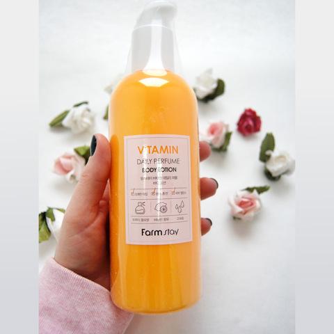 Парфюмированный лосьон для тела FarmStay Daily Perfume Body Lotion-Vitamin, 330 мл