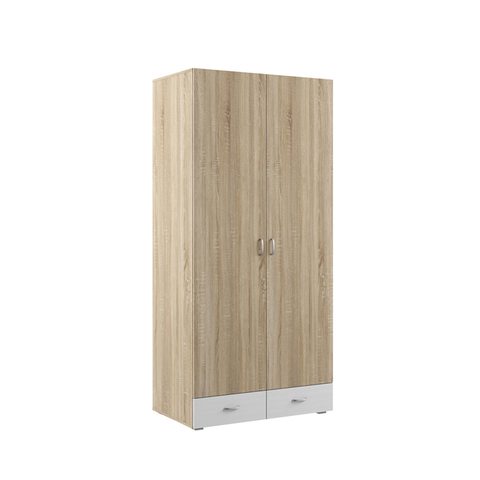 Шкаф двухдверный Линда 305 Моби дуб сонома/белый