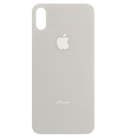 Back Cover Apple iPhone XS Glass Only White Hi-Copy MOQ:10