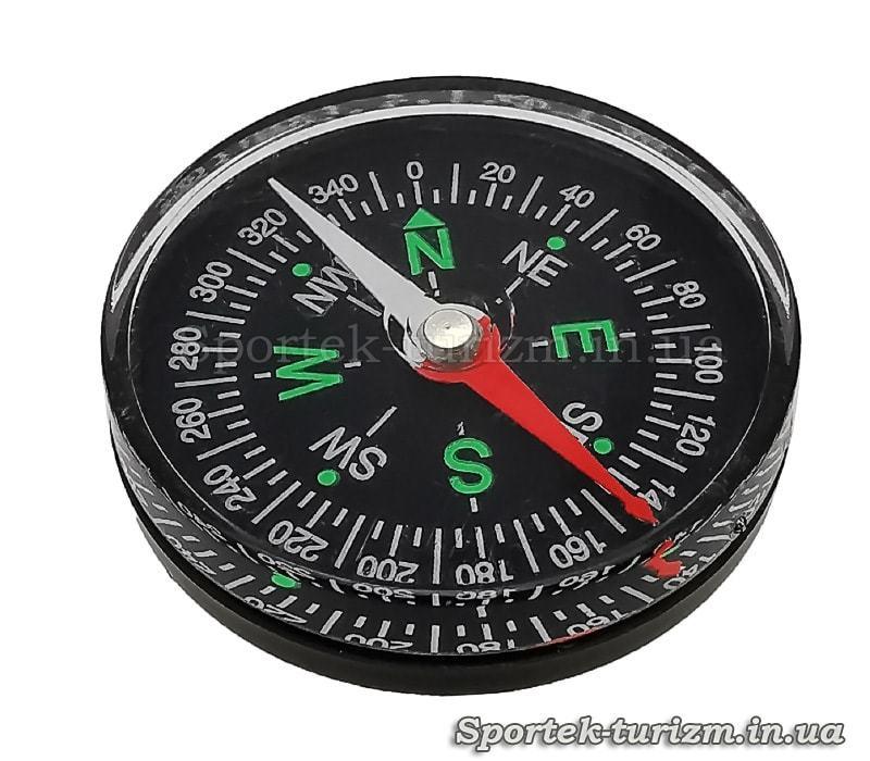 Магнітний компас DC-40 (d-38мм, метал, пластик)