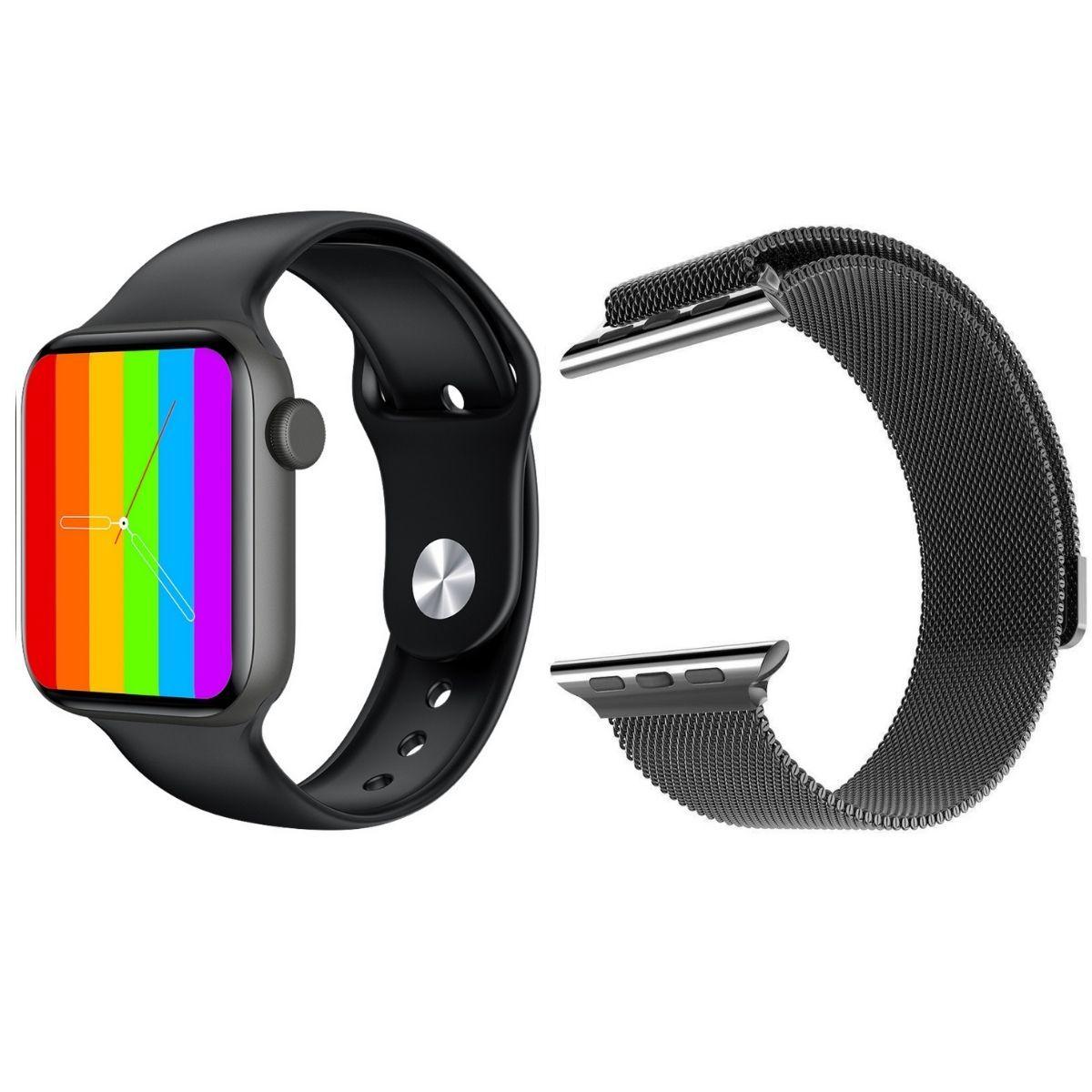 Смарт часы и браслеты Смарт часы KingWear LW12 (черные) с Миланским браслетом LW12_Milanese_Loop__2_.jpg