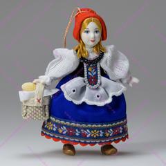 Малая подвесная кукла Красная шапочка с ножками