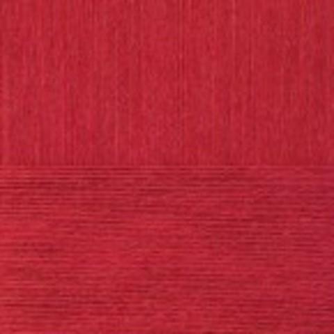 Пряжа Вискоза натуральная Пехорка 88 Красный мак, фото