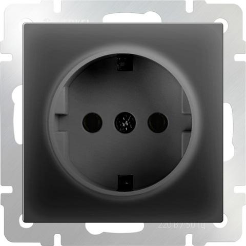 Werkel Розетка W1171008 (WL08-SKG-01) черный матовый  (з/к)