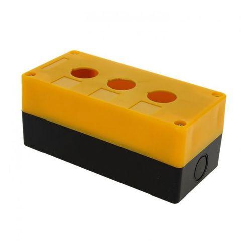 Корпус КП103 для кнопок 3места желтый TDM