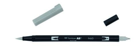 Маркер-кисть Tombow ABT Dual Brush Pen-N60, холодный серый 6