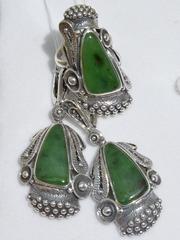 Шамбор (кольцо + серьги из серебра)