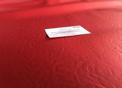 Искусственная кожа красная 338