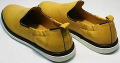 Модные мужские летние туфли полуспортивные King West 053-1022 Yellow-White.