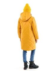 Пальто для девочки Классик горчичный