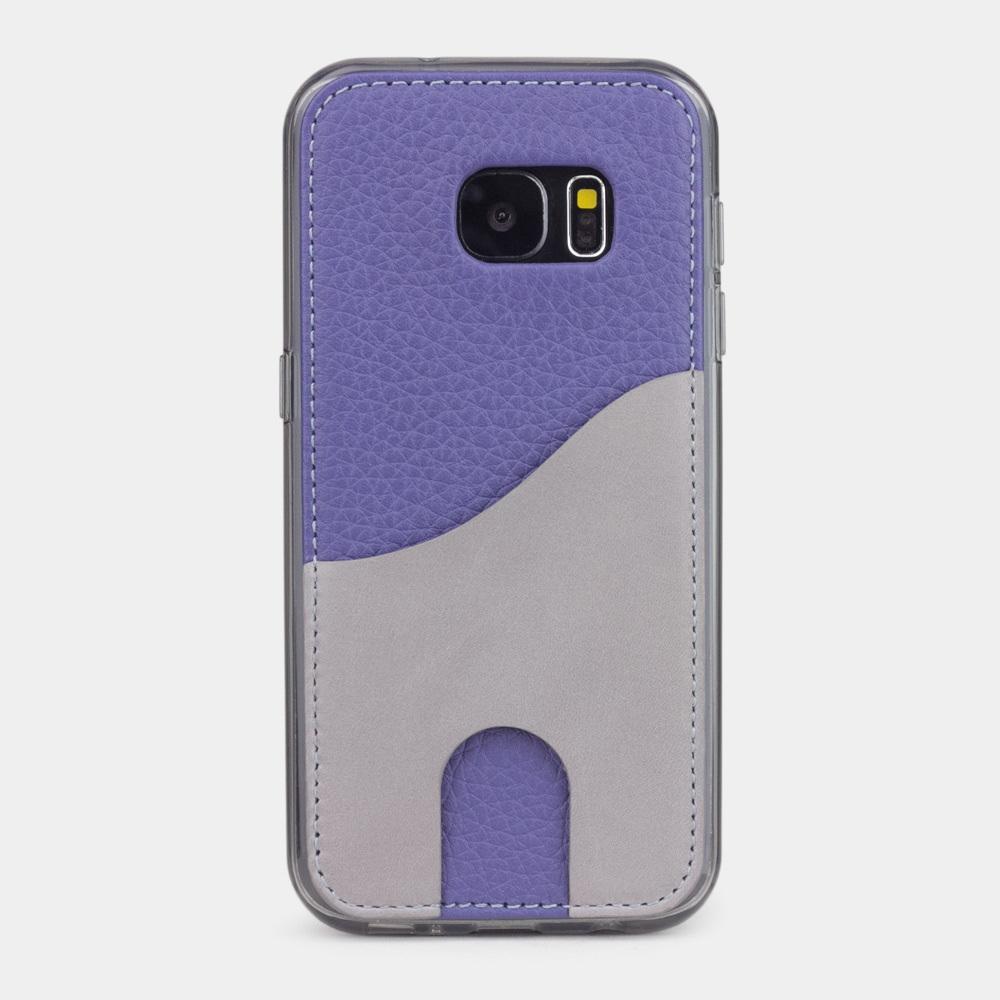 Чехол-накладка Andre для Samsung S7 из натуральной кожи теленка, цвета сирени