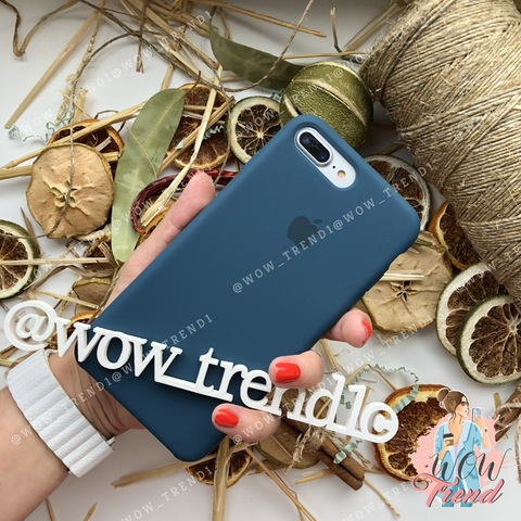 Чехол iPhone 7+/8+ Silicone Case /cosmos blue/ космос original quality