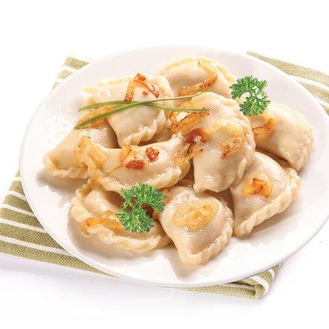 Вареники, картошка + жар.лук - замороженные, вкусно по-домашнему