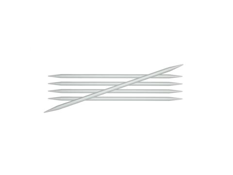 """Спицы чулочные """"Basix Aluminum"""" 4мм/20см, KnitPro, 45115"""