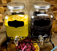 Диспенсеры для напитков 2*4 «Double Yorkshire», по 4 литра, фото 4