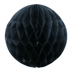Бумажный Шар-соты 30 см Черный