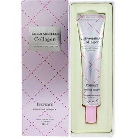 Deoproce Cleanbello Collagen Essential Moisture Eye Cream омолаживающий крем-сыворотка для век с коллагеном