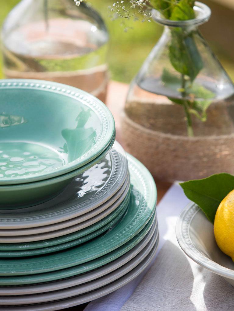 MELAMINE DINNER PLATE, HARMONY MINT
