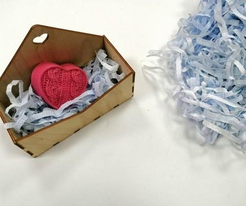 Бумажный наполнитель 60гр., цвет голубой.