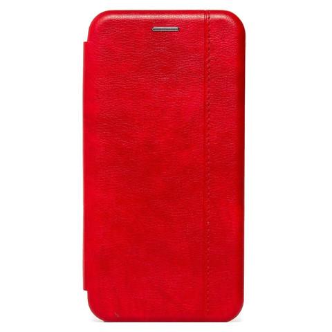 Чехол книжка для iPhone 12/12 Pro   магнит подставка красный